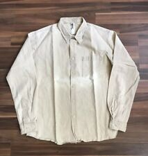 Margaret Howell Button Up Shirt Sz S Tan Oxford