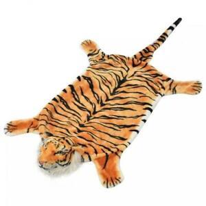 Tigerfell Teppich Plüsch 144 cm Braun