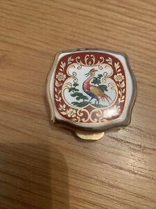 Vintage Stratton Gold Colour Metal Trinket Pill Box