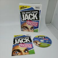 You Don't Know Jack (Nintendo Wii, 2011) Complete CIB Tested Great Condition THQ