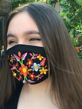 Embroidered Artisanal Flowers Face Mask