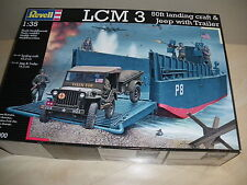 Revell LCM 3 50ft landing craft & Jeep with Trailer 03000