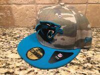 CAROLINA PANTHERS NFL NEW ERA 59FIFTY CAMO HAT CAP - 7 1/2 *SHIPS IN A BOX*