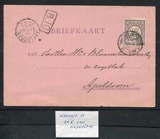 "PLAATFOUT ""streepje in 2e E van NEDERLAND"" op nvph 33, briefkaart 1895"