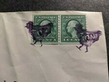 FANCY CHICKEN CANCEL Postal History Cover Benton, IL to McKinney, TX