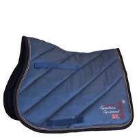 Hochwertige edle BR Schabracke Louvre Sattelpad VS ,Saddle Pad, jeansblau