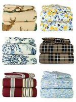 ALL SIZES! 100% Cotton Flannel 4 Piece Great Quality Bedding Super Sheet Sets