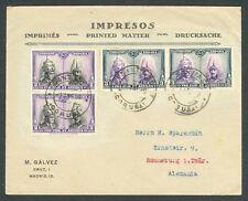 ESPAÑA 1928 - PRO CATACUMBAS - SOBRE A ALEMANIA - MATASELLOS SANTIAGO