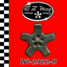Black Five Spoke Euro Style EZ Mag Wheel Inserts Fits Strombecker Cars