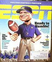 ESPN The Magazine August 17,2015 College Football Preview Jim Harbaugh Michigan