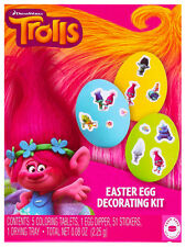 PAPER MAGIC GROUP 58pc Kit DREAMWORKS TROLLS Food Safe EASTER EGG DECORATING KIT