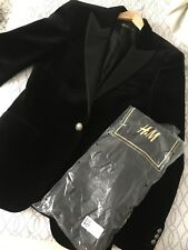 Authentic Balmain X H&M Velvet Blazer Jacket + Cover Bag