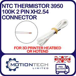 NTC Thermistor 3950 100K with 2 Pin XH2.54 connector 3D Printer Heatbed & Hotend