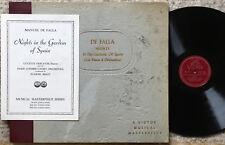 LUCETTE DESCAVES De Falla: Nights in the Gardens of Spain VICTOR Set DM 725 3x78
