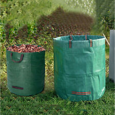 32/72GAL Reusable Garden Waste Bag Heavy Duty Waterproof Rubbish Sack Grass Yard