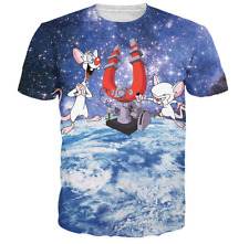 New Fashion Womens/Mens Pinky and the Brain Funny 3D Print Casual T-Shirt JK169