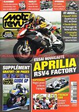 MOTO REVUE 3851 APRILIA 1000 RSV4 Factory HARLEY DAVIDSON 883 IRON HYOSUNG 650