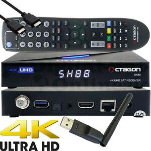 Octagon SX88 4K UHD S2 + IP H.265 Hevc Multistream Assis Récepteur Harceleur M3U