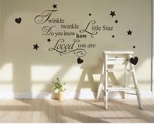 newcomdigi gts Twinkle Twinkle Little Star - Childrens Kids Bedroom Quote Modern