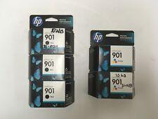 HP 901 BLACK & TRI-COLOR INK CARTRIDGE NEW 5 TOTAL