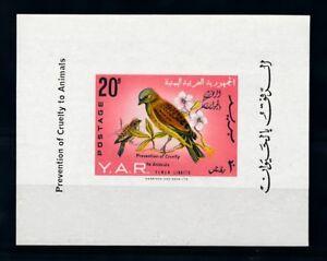[70234] Yemen YAR 1966 Bird Overprint Prevention Cruelty Souvenir Sheet MNH
