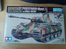 Tamiya Tank German Panther Panzer Ausf.G with motor (motorized) 30055
