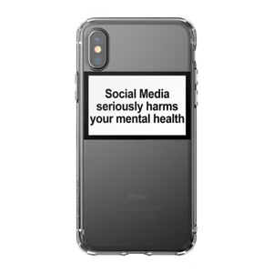 Iphone Case Social Media Seriously Harms Your Mental Health Silicone Phone Case