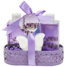 Bath Body & Spa Gift Basket Set Basket for Women in Lavender Fragrance