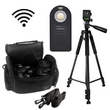 "Pro 60"" Tripod with Deluxe SLR Camera Bag + Wireless Remote For Nikon D3200"