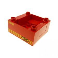 1 x Lego Duplo Führerhaus rot 4 x 4 Zug Cockpit mit ` 52088 ´Lokomotive Aufdruck