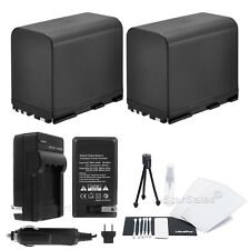 2X BP-970G Battery + Charger + BONUS for Canon XF300 XF305