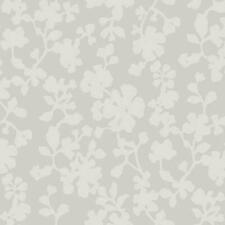 Wallpaper Candice Olson Raised Ink Gray Shadow Flowers on Metallic Silver