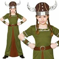Girls Ancient Greek Girl Costume Fancy Dress Up Party Toga Outfit Kids Age 3-13