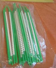 """10 Stäbe Kabelmarkierer grün Zahl """" 0 """" Markierungsringe zum Aufschnappen 1689"""