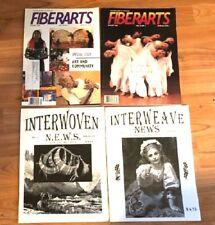 4 vintage magazines-Interwoven News-Winter 1996,Spring 1997, and Fiberarts Mag.