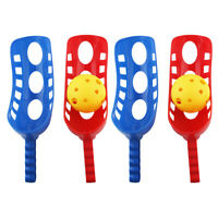 2 Sets Scoop Ball Plastic Toss Catch Set Pop Launcher Scoop Ball Game for Kids