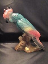 Art Deco Royal Copley Signed Cockatoo Parrot Bird Porcelain Figurine 1940's Tag