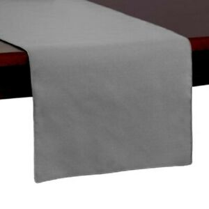 Ultimate Textile Spun Polyester 14-Inch x 54-Inch Table Runner in Grey