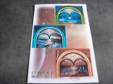 1 FDC ONU 1999 GRAND FORMAT 1ER JOUR (VIENNE/GENEVE/NEW YORK) UNISPACE III