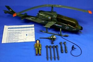 GI JOE DRAGONFLY WITH WILD BILL FIGURE 1983 COMPLETE UNBROKEN