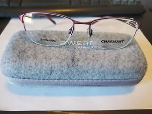 NEW CHARMANT TITANIUM CH 10625 RO ROSE 52/17/135 mm RX Frames PERFECT AUTHENTIC