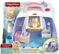 Fisher Price Little People Cuddle & Play Nursery Toy Playset & 2 Figures
