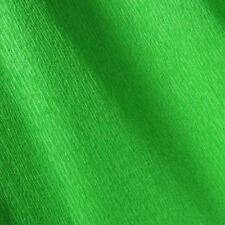 papier crépon    Vert Franc 45cm x 2m NEUF