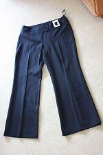 New Debenhams Dark Grey Pin Stripe trousers size 12 petite Wide leg 28.5 ins