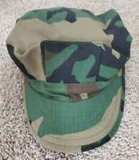 Us Military Issue Navy Corpsman 8 Point Woodland Cover Hat Cap - Small