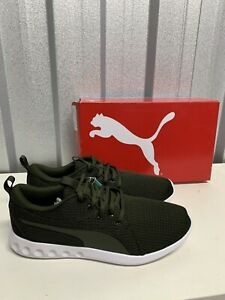 Puma Carson 2 Knit Trainers Green Size 9 New In Box