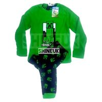 NEW MINECRAFT Creeper Kids/boys winter fleece Top&Pyjama set Pjs Primark 7-15yrs