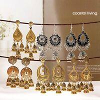 Fashion Bohemian Silver Gold  jhumka Ethnic Earrings Bollywood Indian Jewelry