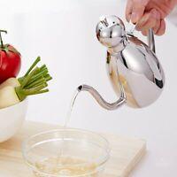 Kitchen Stainless Steel Leakproof Oil Drop Pot Sauce Vinegar Bottle 500ml Kettle