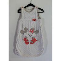 Gigoteuse velours blanche pois sans manches Mickey et Minnie DISNEY - 6/24 mois
